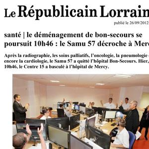 Exos - Presse Le Républicain Lorrain